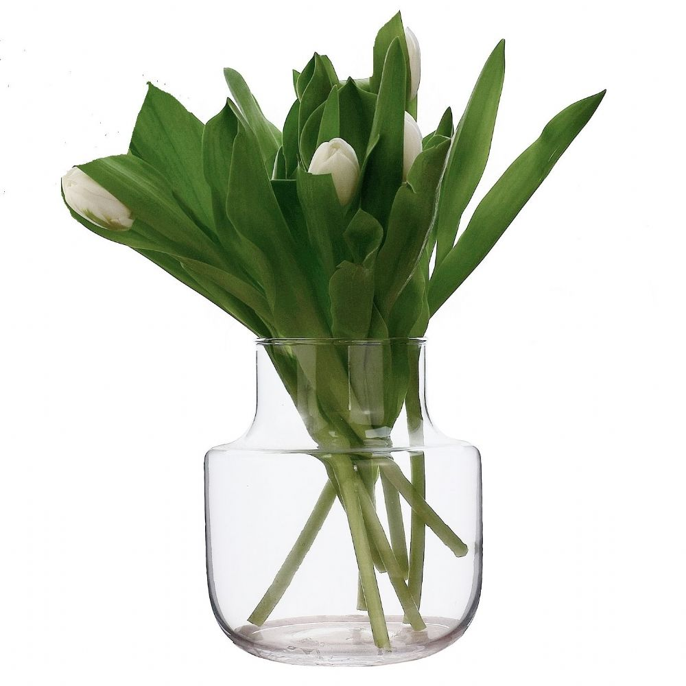 Chimney Flower Vase 19cm,  Solavia Glassware